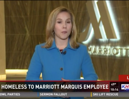 Super Bowl destination hotel Marriott Marquis hires Open Door Mission graduate!